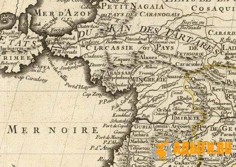 Территориальное расселение черкесов (адыгов) на карте Кавказа