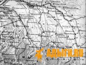 Фелицын Е. Д. Карта Кубанской области