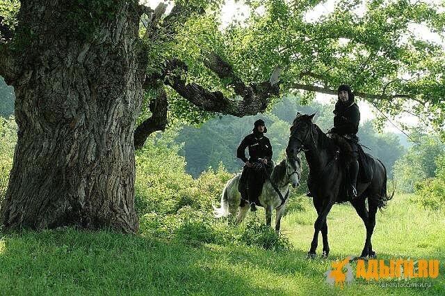 Кабардинцы. Небольшой конный отряд - «гуп»