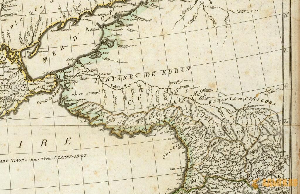 Наименование племен, занимающих северные склоны Кавказа от крепости Анапа до истоков Кубани