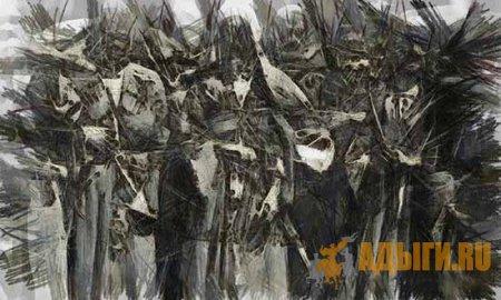 ДУБРОВИН Н. - Военная организация и военные действия черкесов и убыхов