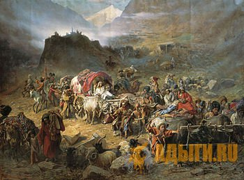 Выселение мирных жителей северных склонов Кавказского хребта