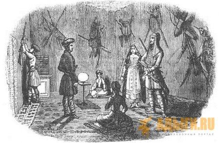 ГОСТИНАЯ КОМНАТА В ДОМЕ ЧЕРКЕССКОГО КНЯЗЯ. 1838