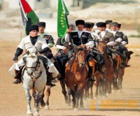 Кавалькада всадников - участников конного перехода