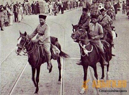 Бойцы Черкесского эскадрона. Дамаск. Июнь, 1941.