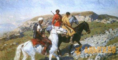 Рубо Франц Алексеевич - Черкесы в горах Кавказа