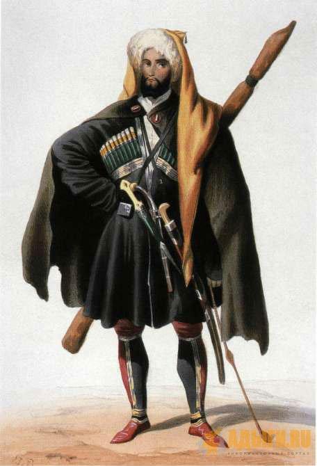 Национальный черкесский костюм фото