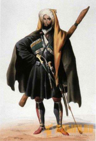 Черкесский мужской национальный костюм: символика и функциональность