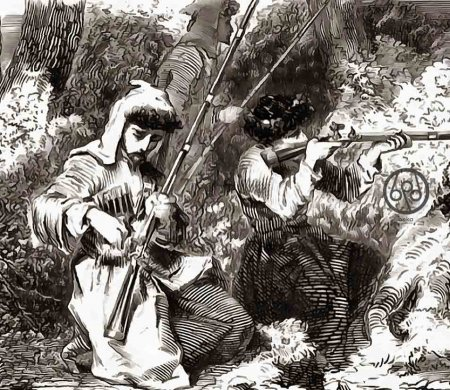 Хакучинцы и сражения в 1865 и 1866 годах.