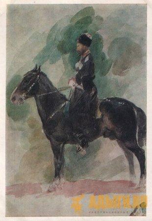 Черкесский гвардеец на кабардинской лошади