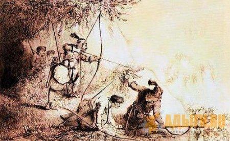 Основным средством ведения дистанционного боя у черкесов был лук со стрелами