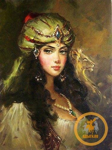 """Портрет черкешенки Махидевран, (""""вечно прекрасная""""), жены султана Сулеймана Великолепного."""