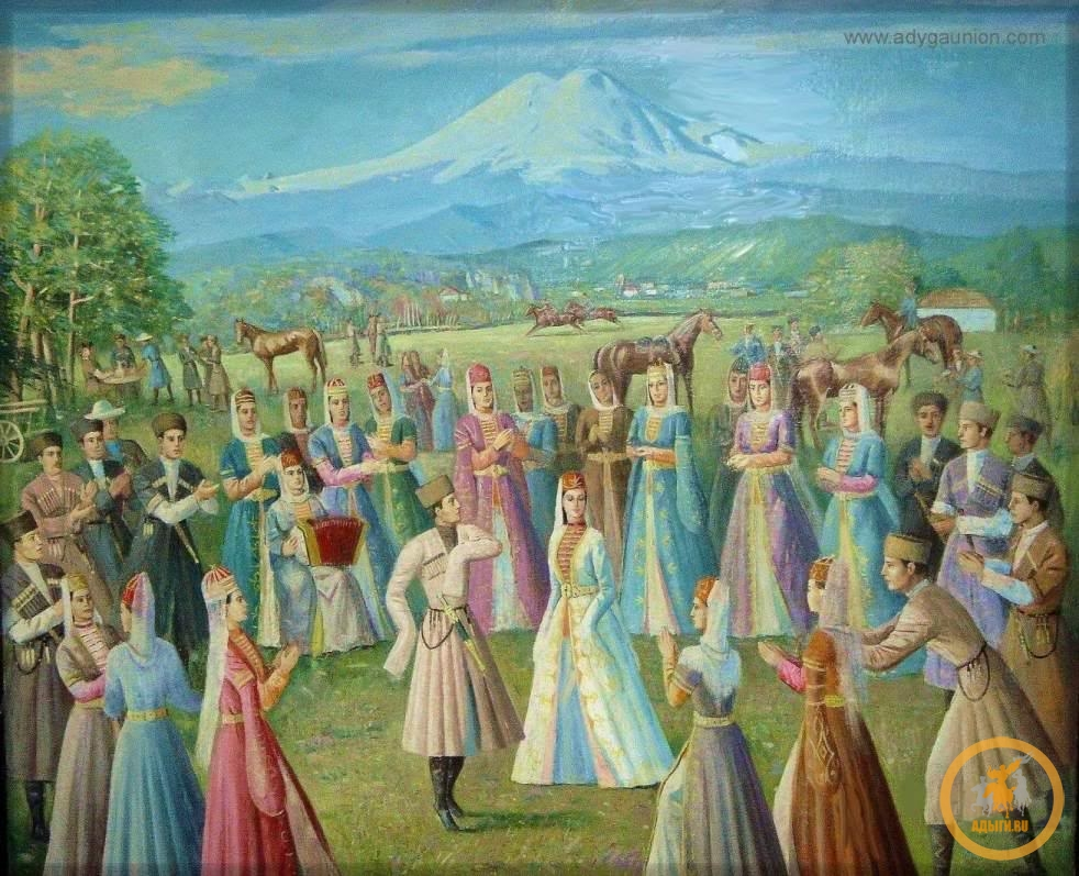 Фронтальный анализ Адыгского магического танца