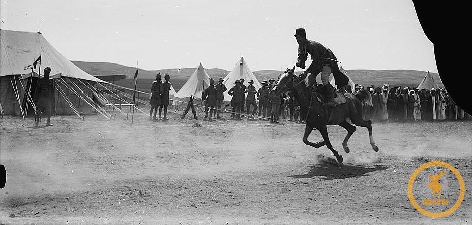 Черкесский всадник в Трансиордании (1921)