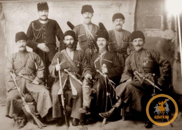 На фото черкесские мухаджиры состоявшие на военной службе у турок.
