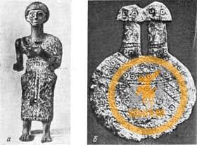Бронзовая и каменная статуэтки