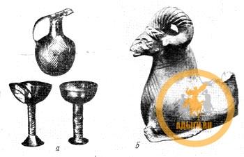 Золотые сосуды из Аладжа-Хююка - дохеттская эпоха - хеттский ритон из Кара-Хююка