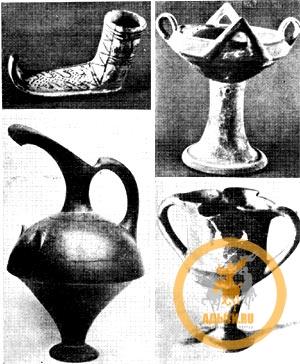 Керамические сосуды из Кюльтепе