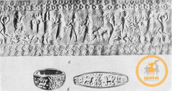 Оттиск хеттской цилиндрической печати