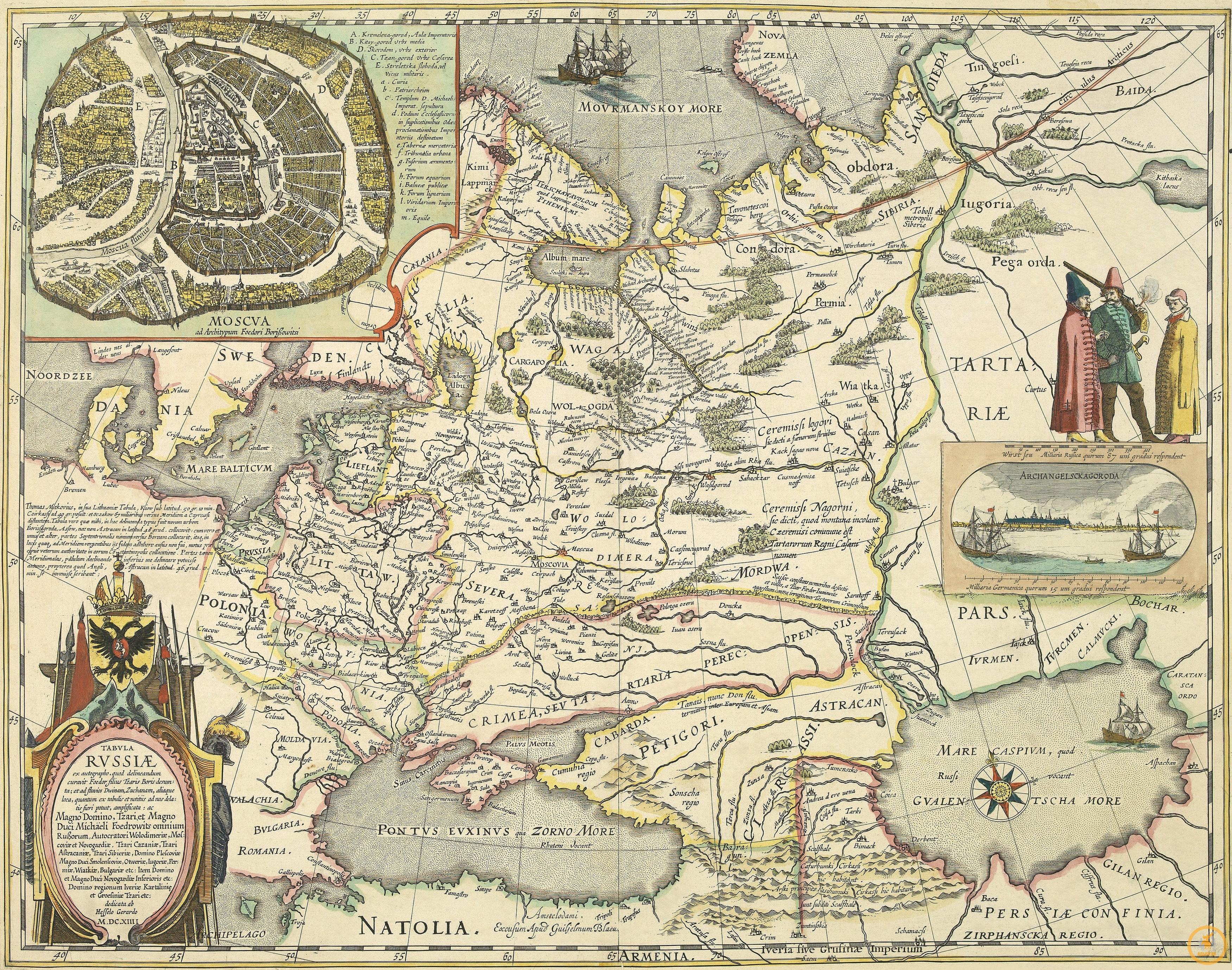 Блау Иоанн. Карта России. 1645 г.