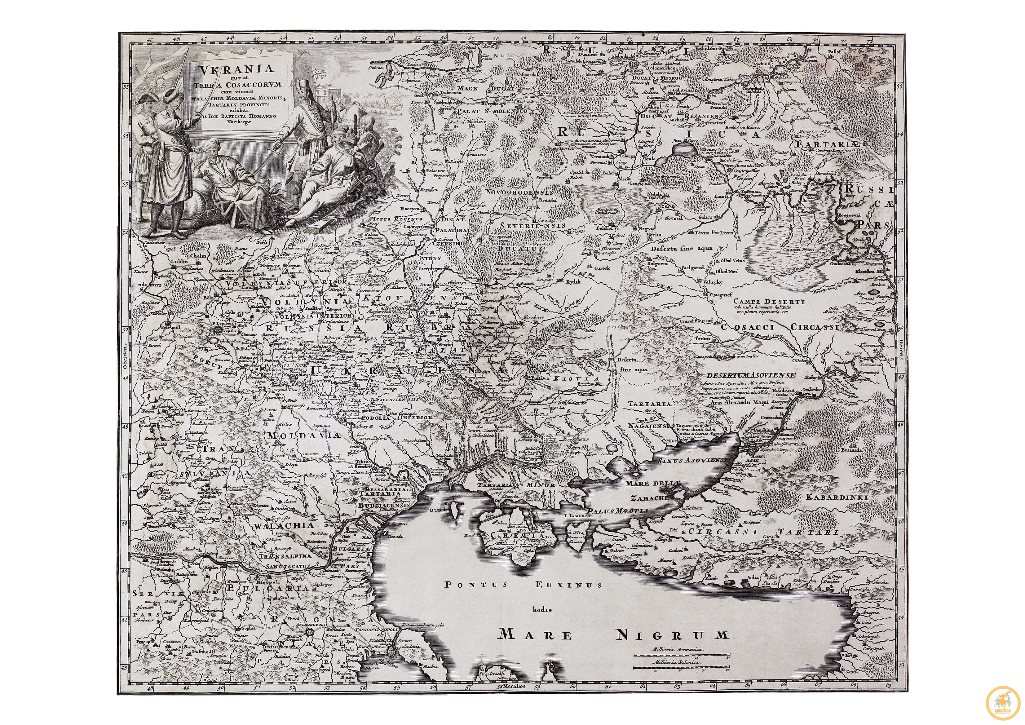 Хоманн И. Б. Украина и земля козаков. 1720 г.