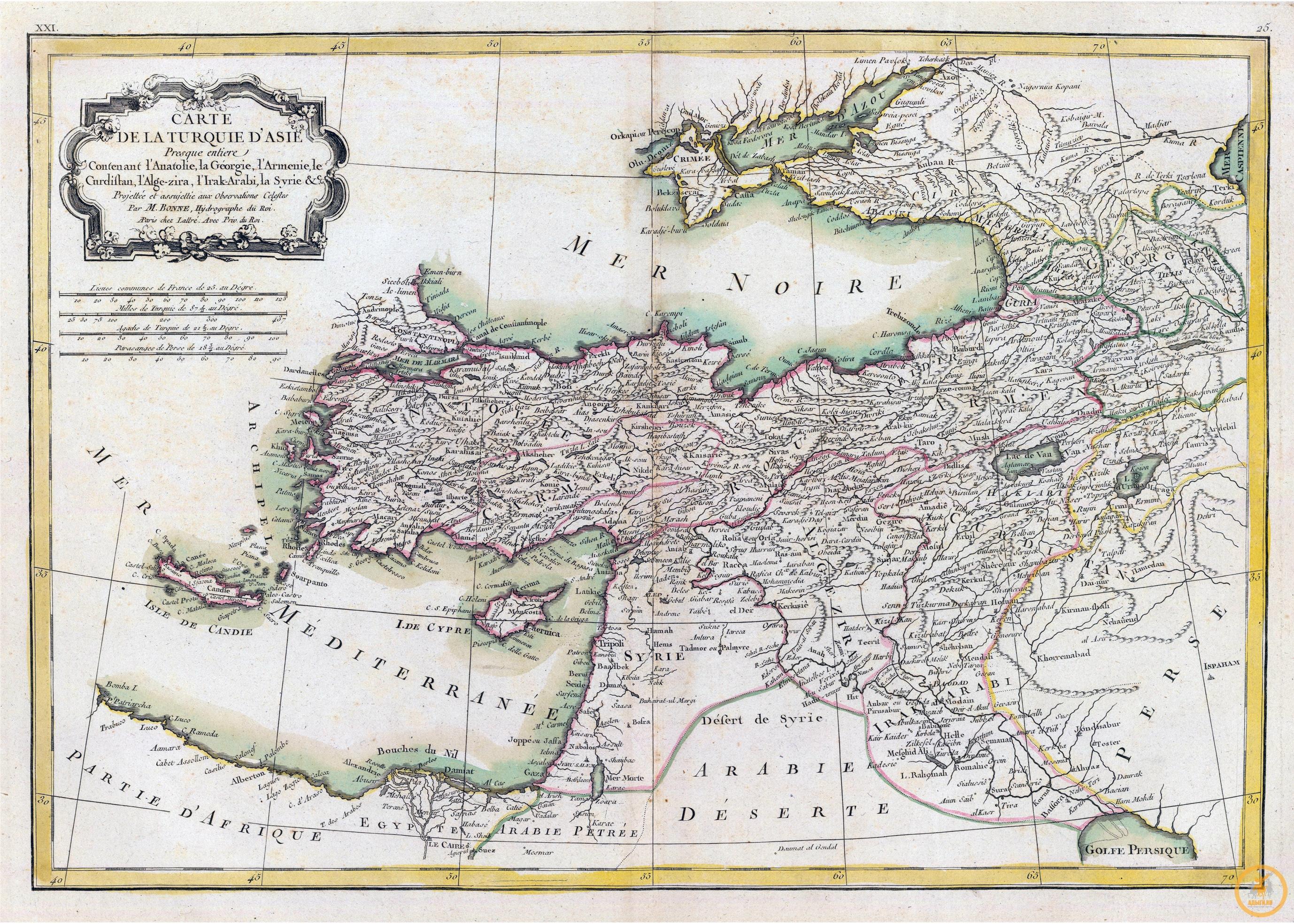Боннэ Ригобер (1727-1794). Турция в Азии. 1791 г.