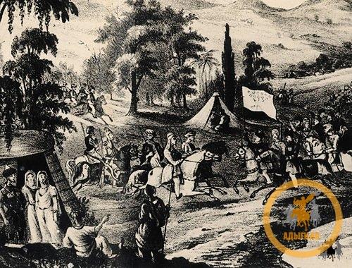 Натухайские и шапсугские послы прибывшие в Трабзон