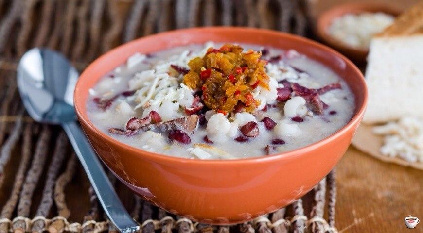 Ашрык – ритуальный суп из вяленого мяса.