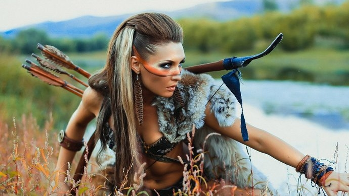 Амазонки - прекрасные, таинственные воительницы