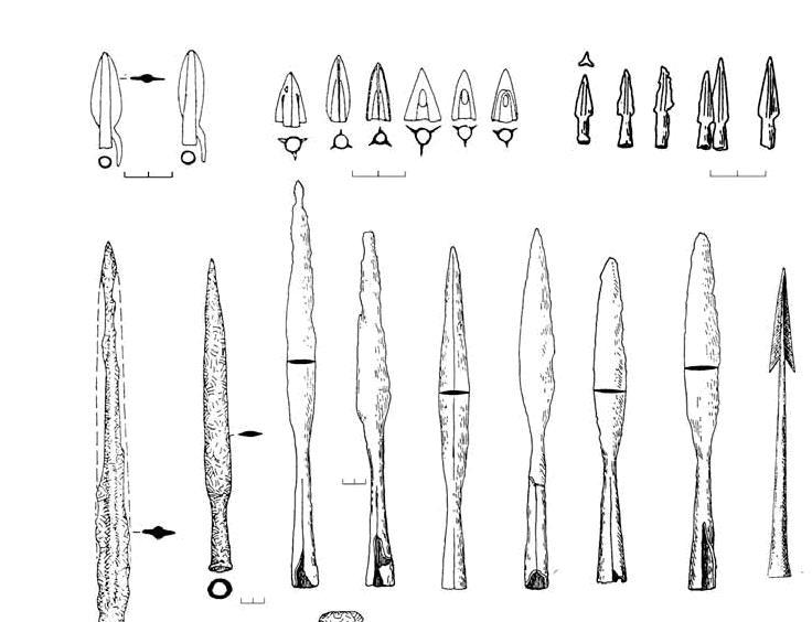 Оружия меотских воинов было легкое копье с небольшим железным наконечником