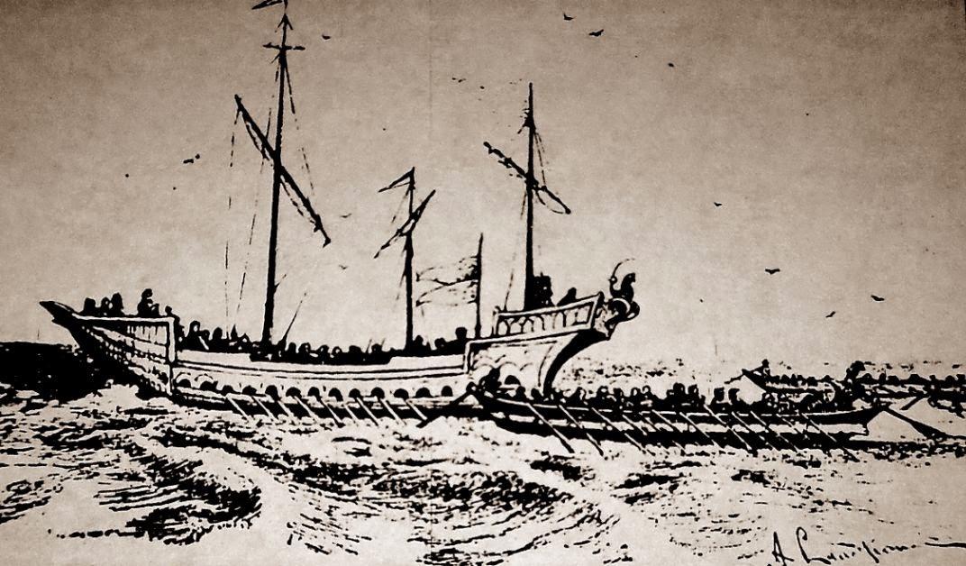 По древним картам можно предположить то, что черкесы были умелыми мореходами