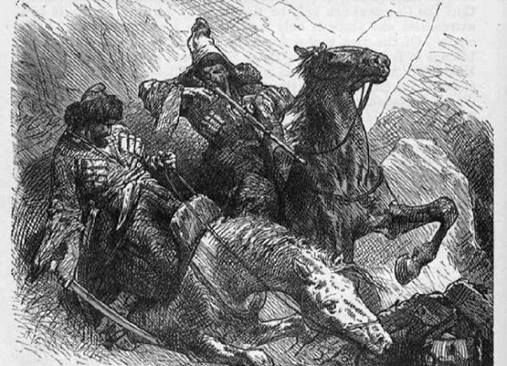 Абри де ла Мотрэ : черкесы силой отвечают на силу и набегом - на набег.